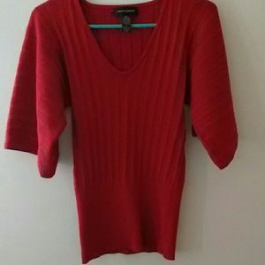Cable & gauge red metallic top sz small